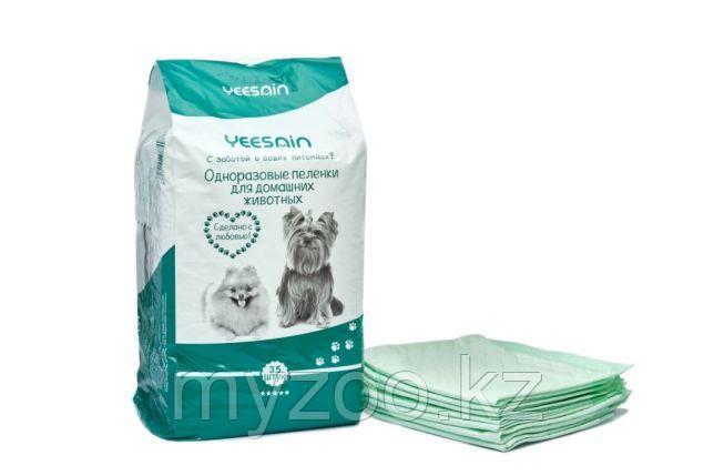 Пеленки YEESNIN 60*45 см уп. 30 шт  Одноразовые пеленки для домашних животных 