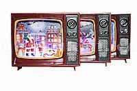 """Новогодний сувенир """"Телевизор"""" в ассортименте светящаяся светодиодная лампа на шесть цветов"""