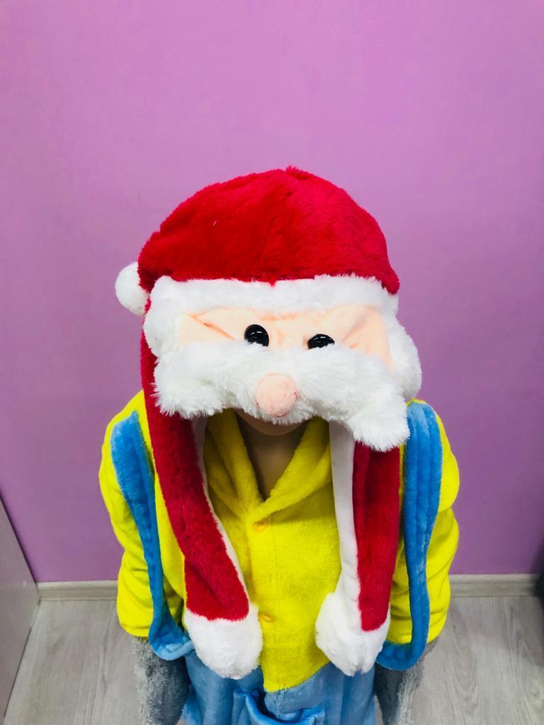 Шапочка Дед Мороз с поднимающимися ушками