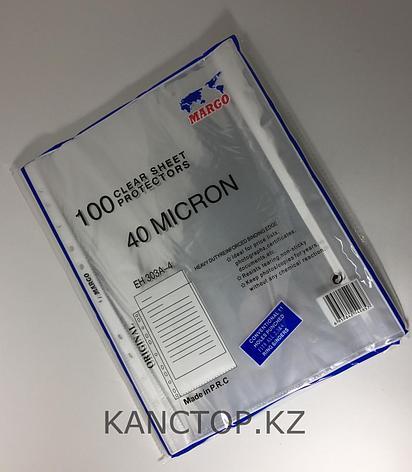 Файл - вкладыш А4 MARGO 40 мкр прозрачный, фото 2