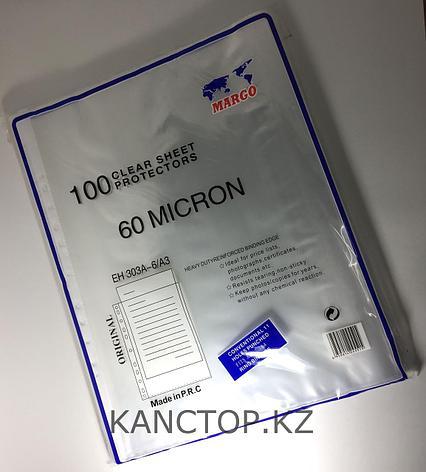 Файл - вкладыш А3 MARGO 60 мкр прозрачный, фото 2