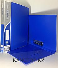 Папка с зажимом А4 синяя