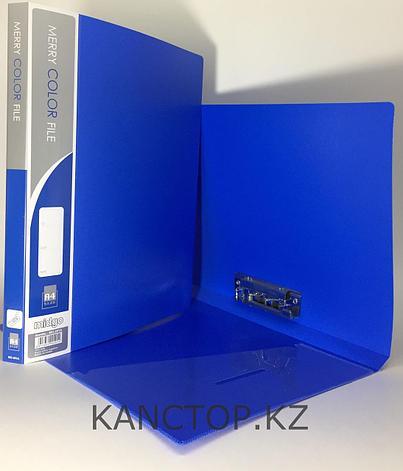 Папка с зажимом А4 синяя, фото 2