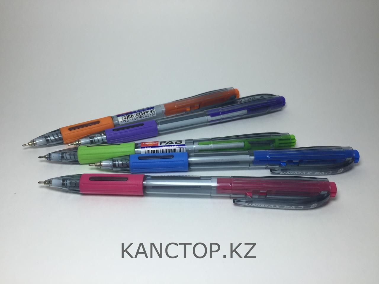 Ручка шариковая полуавтомат UNI-MAX FAB Синяя