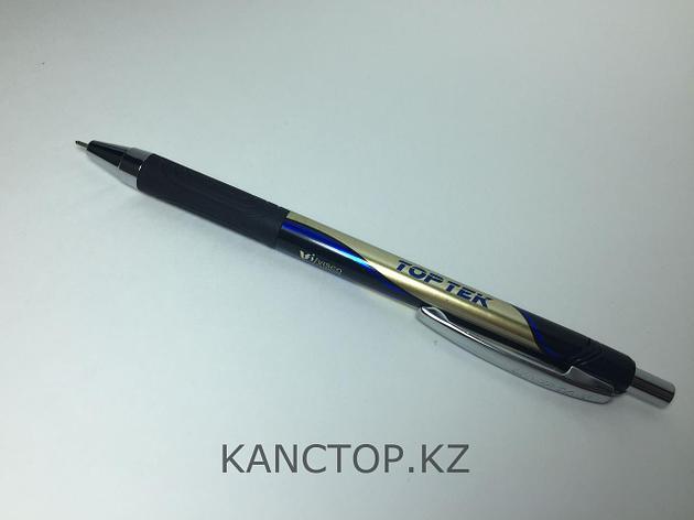 Ручка шариковая автомат UNI-MAX TOP TEK RT Синяя, фото 2