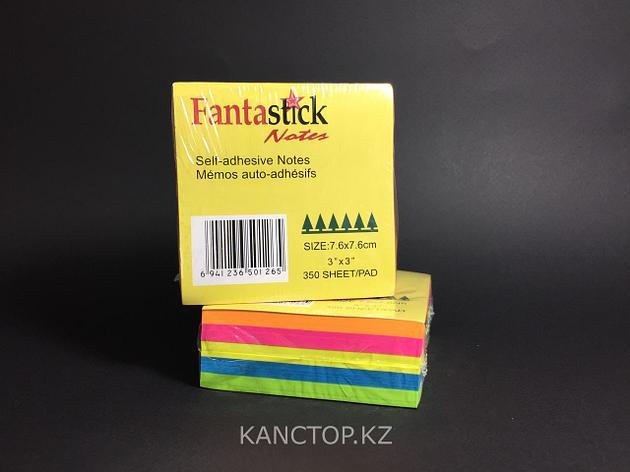 Бумага клейкая для заметок FANTASTICK 3х3, 350 листов, фото 2