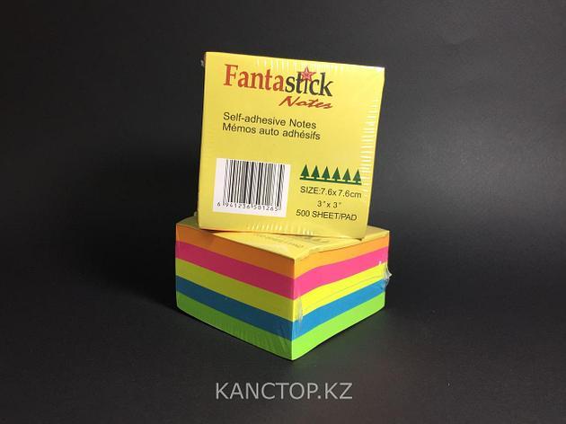 Бумага клейкая для заметок FANTASTICK 3х3, 500 листов, фото 2