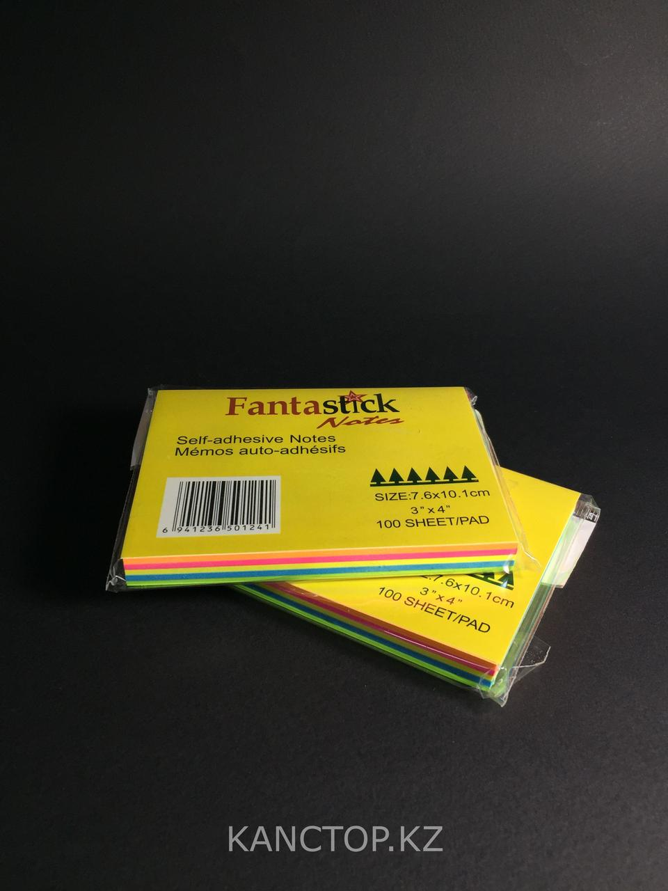 Бумага клейкая для заметок FANTASTICK 3х4, 100 листов