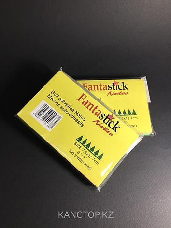 Бумага клейкая для заметок FANTASTICK 3х5, 100 листов, фото 2