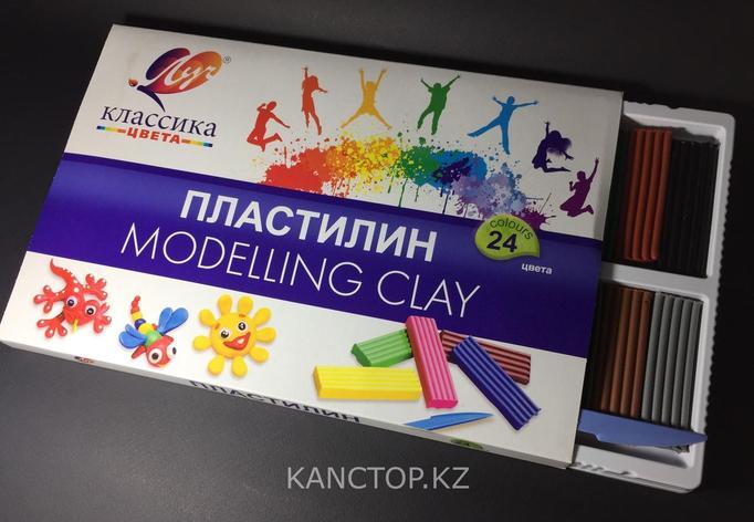 Пластилин Луч 24 цвета, фото 2