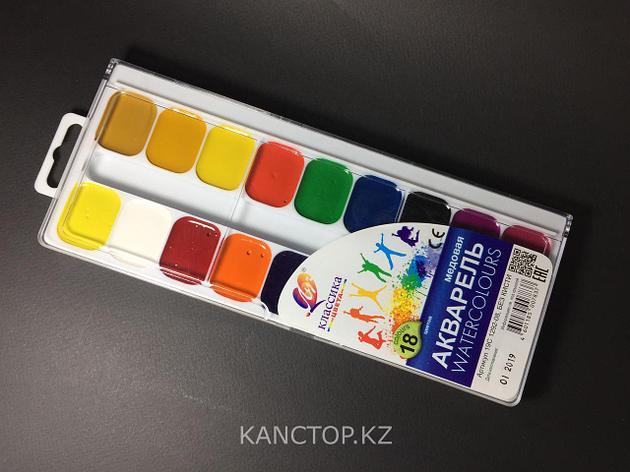 Краски акварельные Луч 18 цветов, фото 2