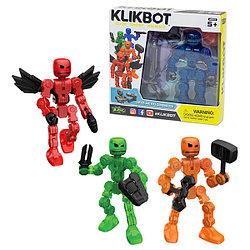 STIKBOT TST1600 Стикбот - Фигурка Klikbot с аксессуарами, создай Кликбота - супергероя