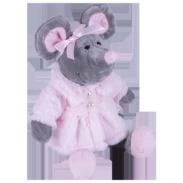 Мягкая игрушка Мышь в шубе, 26 см.