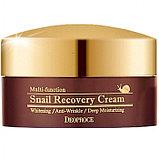 Восстанавливающий крем для лица с фильтратом слизи улитки,Deoproce Snail Recovery Cream, фото 3