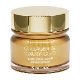 Омолаживающий крем для лица с коллагеном и коллоидным золотом,3W Clinic Collagen & Luxury Gold Revitalizing Co, фото 2