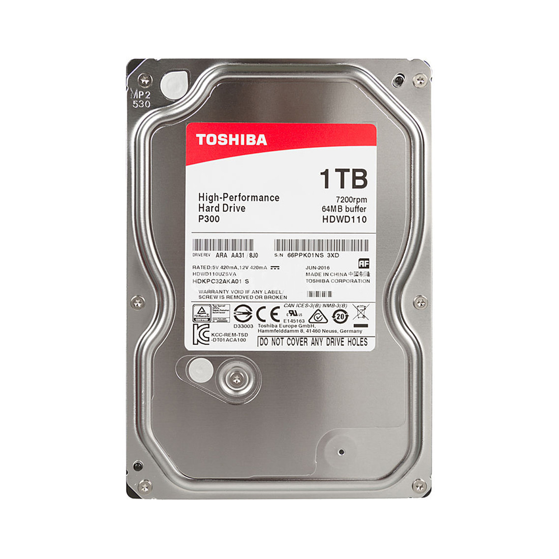 Жёсткий диск Toshiba HDWD110UZSVA HDD 1TB