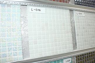 Перламутровая мозаичная плитка белый с перламутром