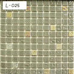 Перламутровая мозаичная плитка серебристо-золотой
