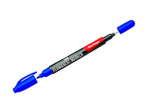Маркер для CD/DVD BERLINGO двухсторонний, 0,5-1 мм, синий
