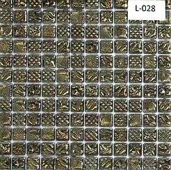 Перламутровая мозаичная плитка серо-серебристый