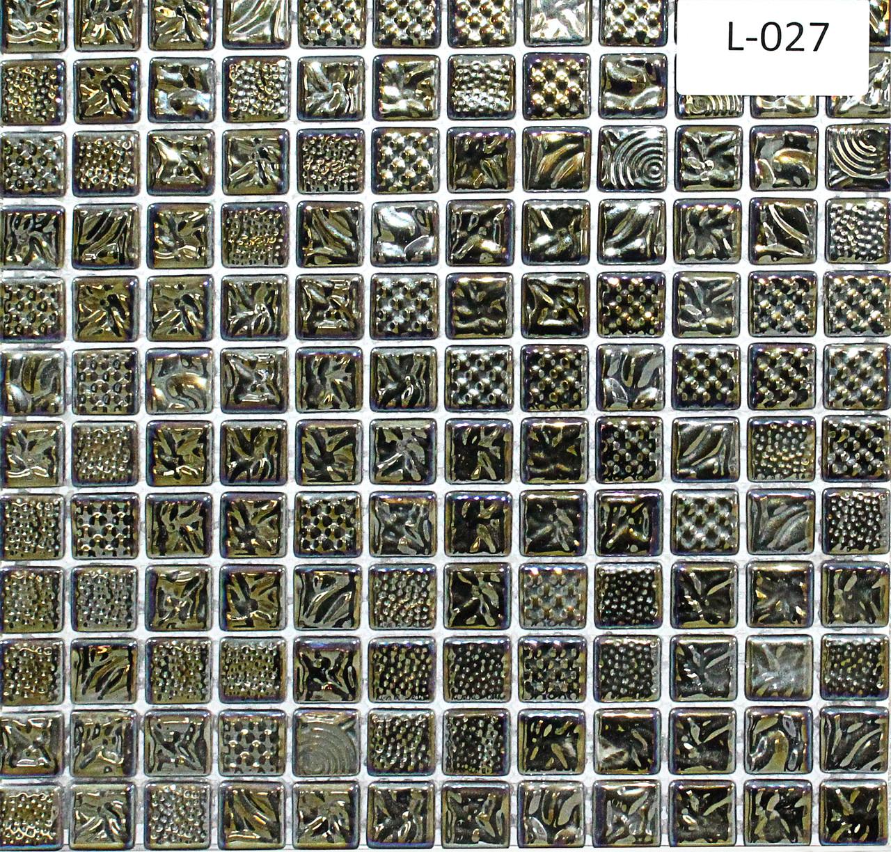 Перламутровая мозаичная плитка серо-зеркальный