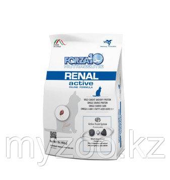 Forza10 Renal Active, Форца 10 ветеринарная диета при проблемах почек у кошек, уп. 454гр.