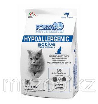 Forza10 Hypoallergenic Active, Форца 10 ветеринарная диета при аллергиях для кошек, уп. 454гр.