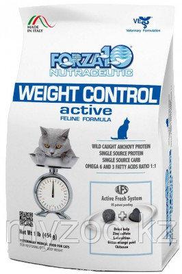 Forza10 Weight Control Active, Форца 10 ветеринарная диета при нарушениях обмена веществ для кошек, уп. 454гр
