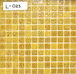 Перламутровая мозаичная плитка жёлто перламутровый