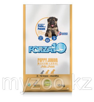 Forza10 Puppy Junior pollopatate, корм для щенков с курицей и картофелем, уп. 15кг.