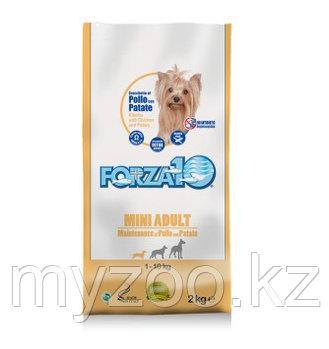 Forza10 Mini maintenance, Форца10 корм из курицы с картофелем для собак мелких пород, уп.2кг