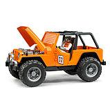Внедорожник Bruder Cross Country Racer оранжевый с гонщиком 02-542, фото 2