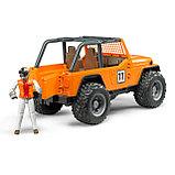 Внедорожник Bruder Cross Country Racer оранжевый с гонщиком 02-542, фото 3