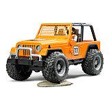 Внедорожник Bruder Cross Country Racer оранжевый с гонщиком 02-542, фото 4