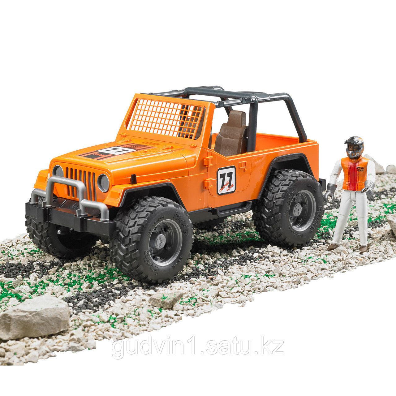 Внедорожник Bruder Cross Country Racer оранжевый с гонщиком 02-542