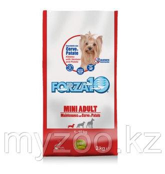 Forza10 Mini Adult Maintenance, Форца10 корм из оленины с картофелем для собак мелких пород, уп. 2кг.