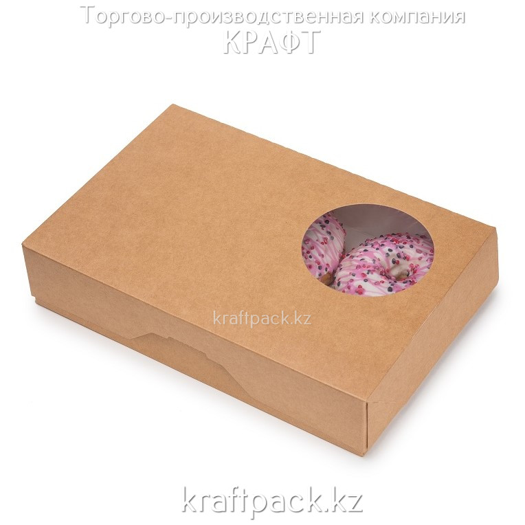 Упаковка для Пончиков DONUTS M 185*270*55 DoEco (15/150)