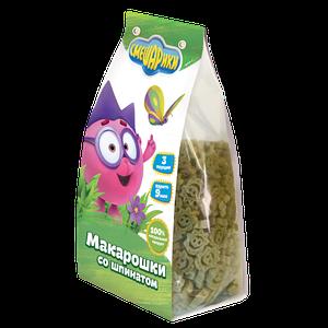 """Детские макарошки """"СМЕШАРИКИ"""" со шпинатом"""