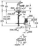 Grohe BauCurve Смеситель для раковины однорычажный DN 15 32805000, фото 2