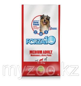 Forza10 Medium Maintenance cerpat, Форца10 корм из оленины с картофелем для собак средних пород, уп. 15кг.