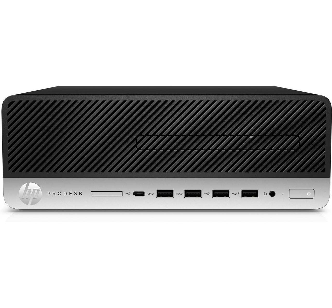 Компьютер HP Prodesk 600 G3 SFF / Platinum / i3-6100 / 4GB / 500GB HDD / DOS / DVD-WR / 3yw / USB Slim kbd / m