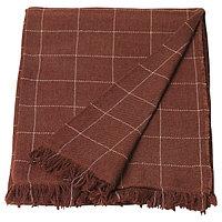 Плед ВОРКРАГЕ красно-коричневый 110x170 смИКЕА, IKEA, фото 1