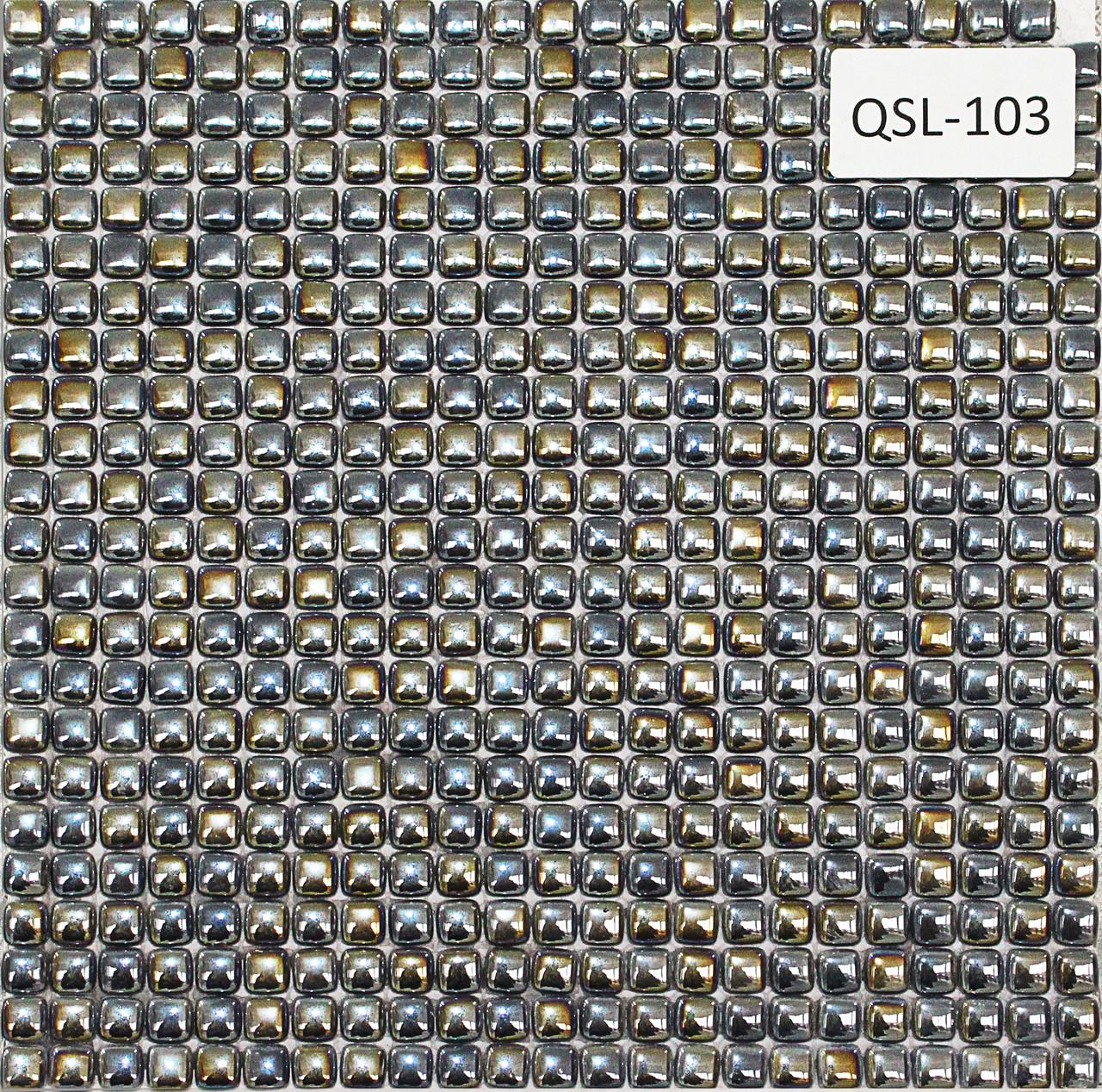 Мелкая перламутровая мозаичная плитка серебристо серый
