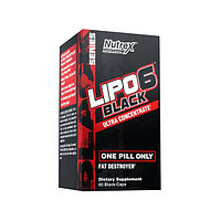 Жиросжигатель Nutrex - Lipo 6 Black Ultra Concentrate, 60 капсул