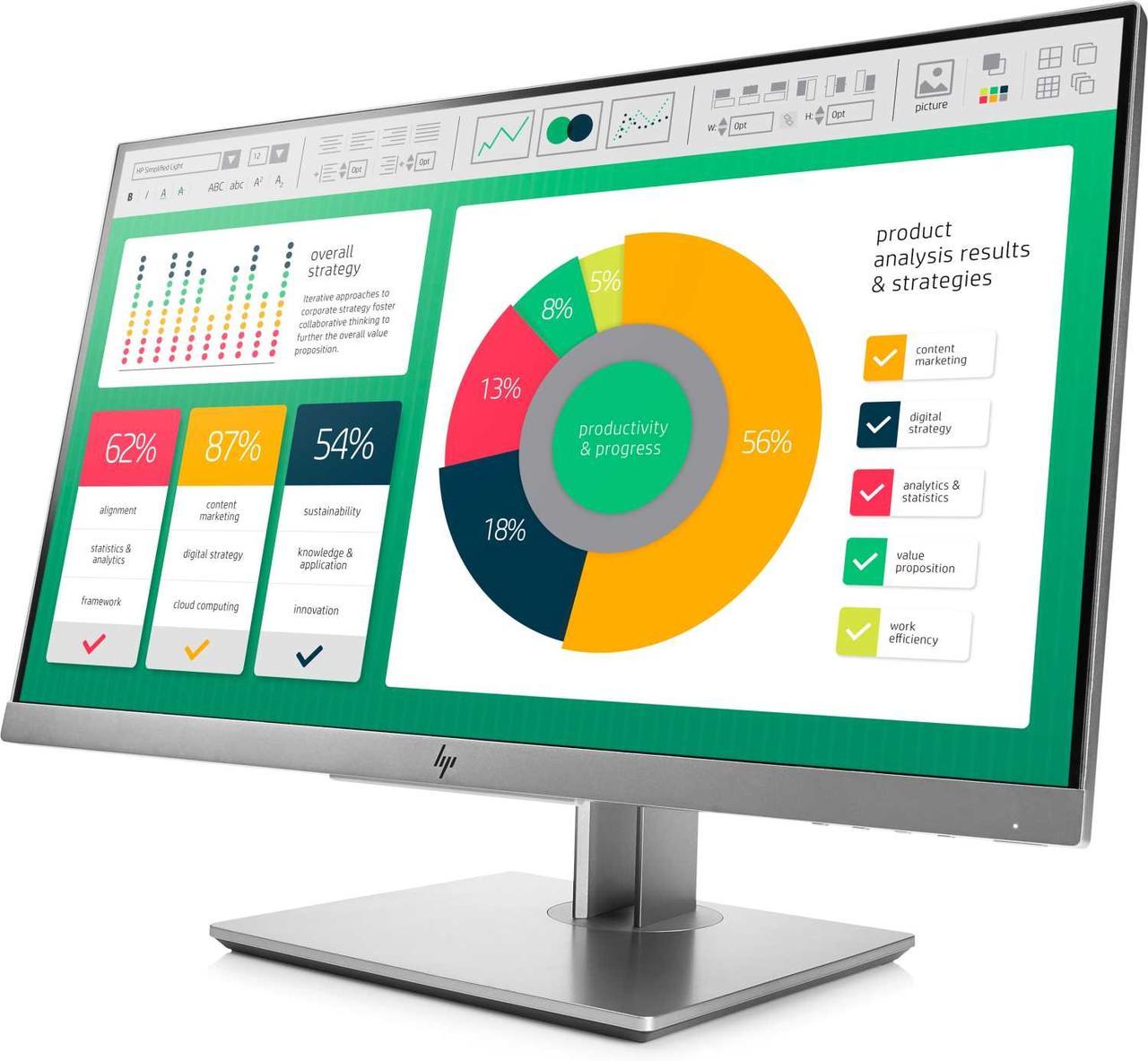 Монитор HP EliteDisplay E2231FH45AA LCD 21.5'' [16:9] 1920х1080(FHD) IPS, nonGLARE, nonTOUCH, 250cd/m2, H178°