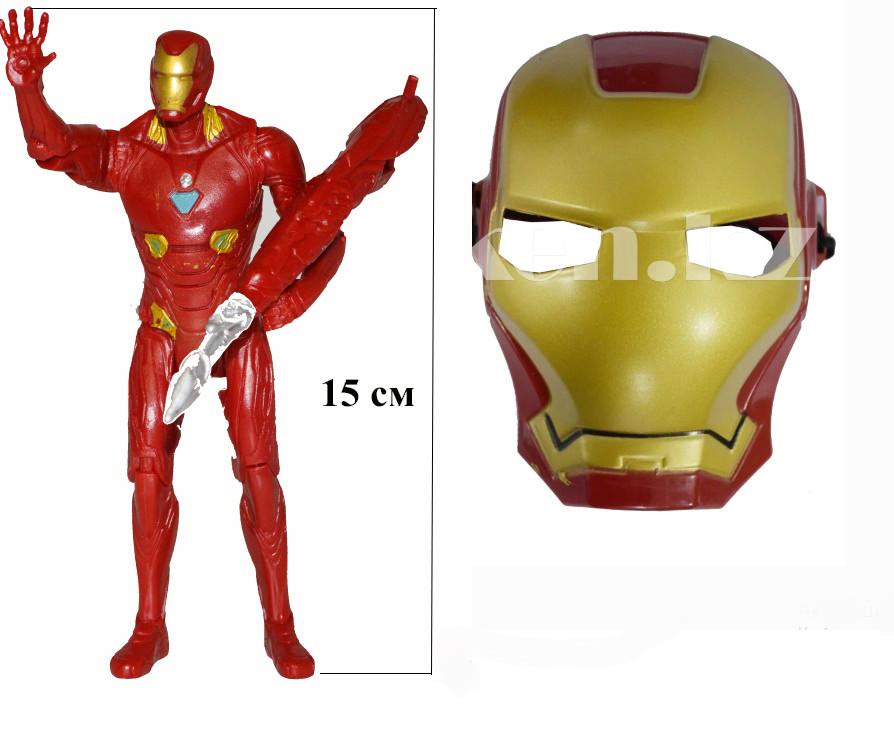 Набор детская маска и фигурка Железный человек 15 см серия Мстители - фото 2