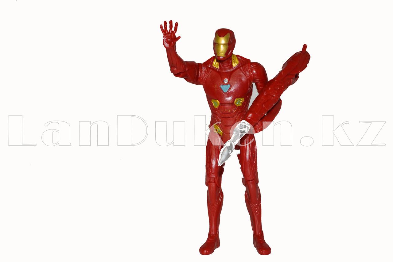 Набор детская маска и фигурка Железный человек 15 см серия Мстители - фото 6