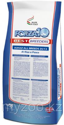 Forza10 Best Breeders Adult All Breeds 25/13, Форца 10 корм с микрокапсулами, рыба с рисом, уп.20кг