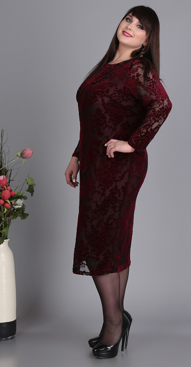 Платье Novella Sharm-3370, бордовые тона, 58