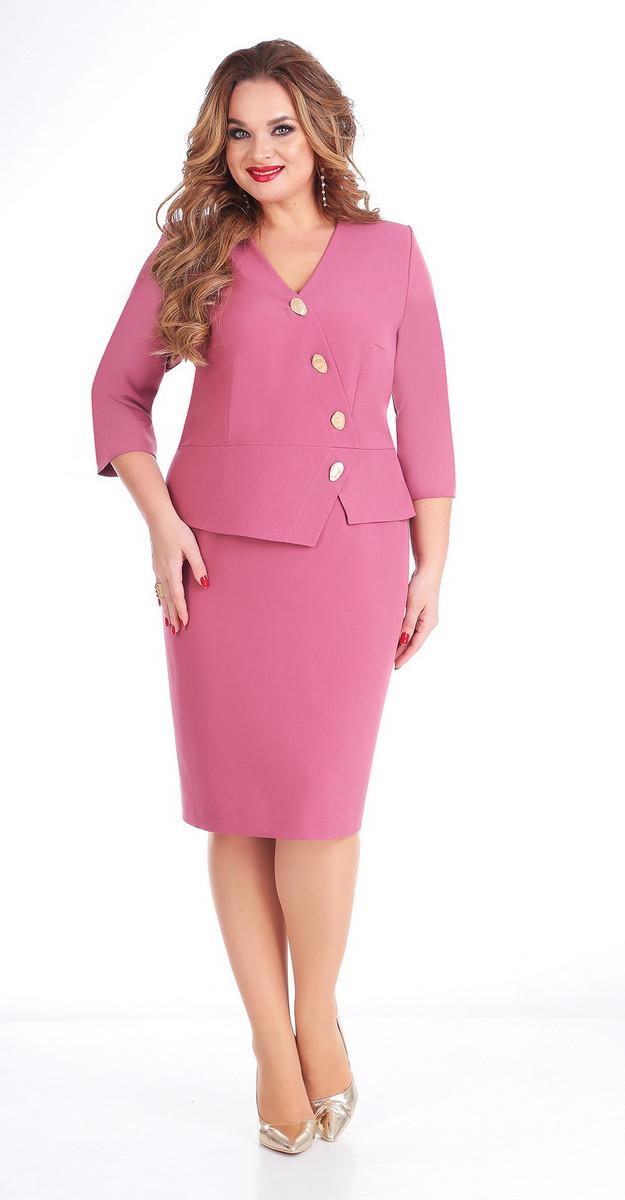 Платье Ксения стиль-1699А, розовый, 50